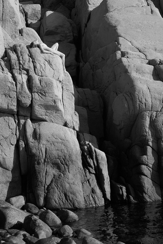 Nude in a Rocky Crevice 1