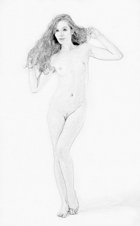 Gracefully Nude in Pencil Sketches 1